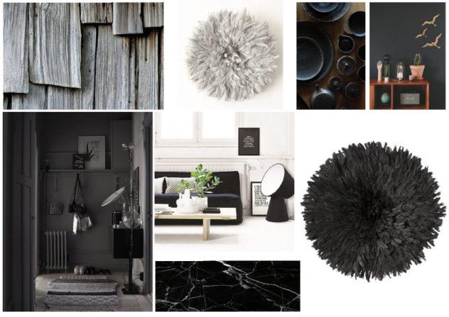 Planche-noir gris